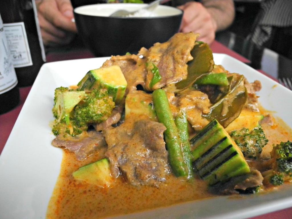 Curry verde con ternera