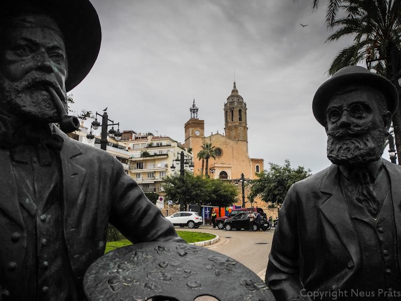 Santiago Rusiñol y Ramon Casas. Passeig de la Ribera.