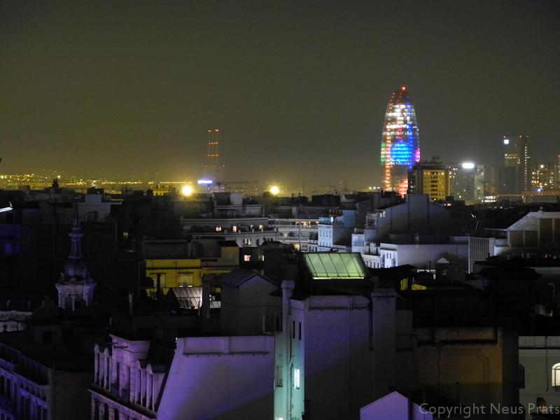 Iluminación especial de la Torre Agbar