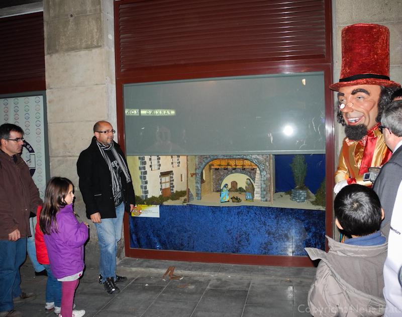Pessebre de la sede de la Coordinadora de Geganters de Barcelona.