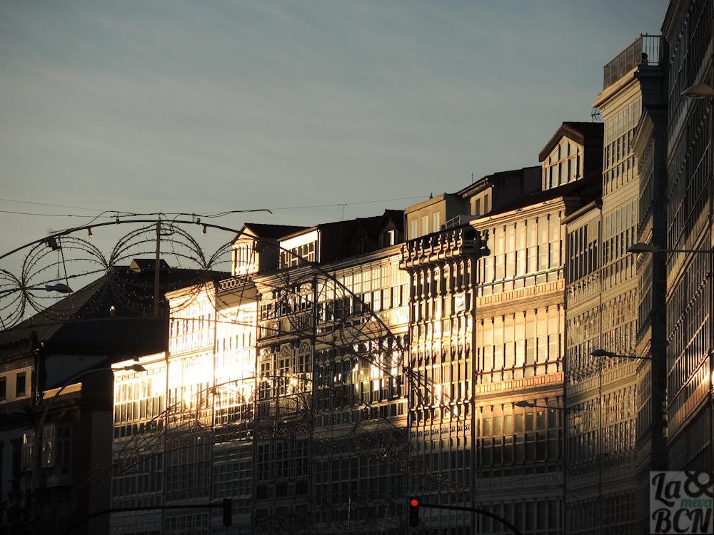 Fachadas típicas de la arquitectura de la ciudad