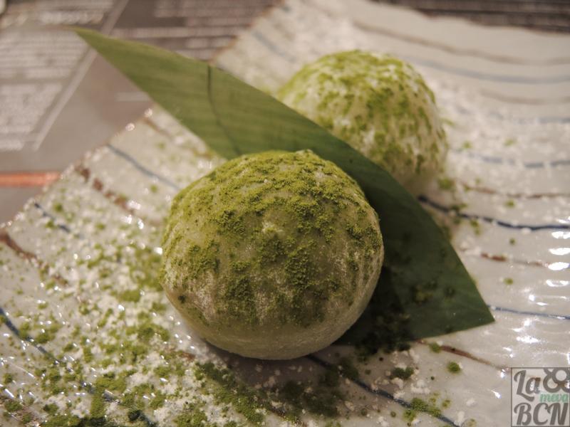 Mochis de té verde.